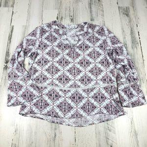 Time and Tru boho blouse size large